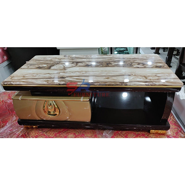 marble center table with drawer