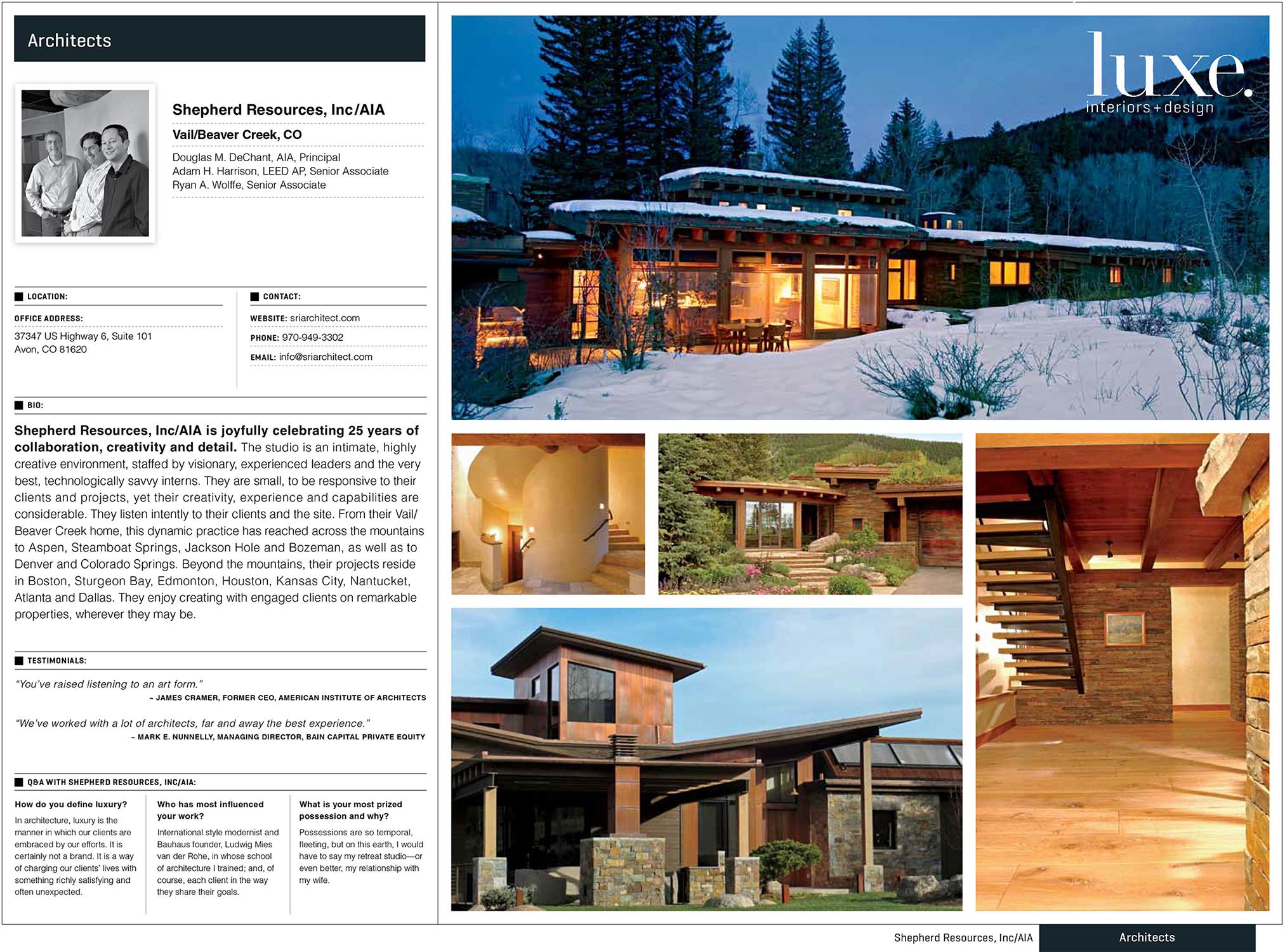 Luxe Magazine, Colorado