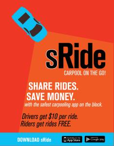 SRide - Leaflet Promo carpool Hoboken