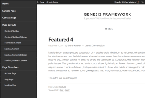 Adding a responsive side menu in Genesis using Sidr