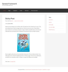 How to display one Sticky post on homepage in Genesis