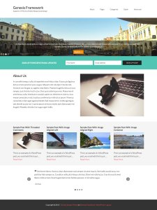 Sample Widgetized Front Page with Full Width Sections in Genesis