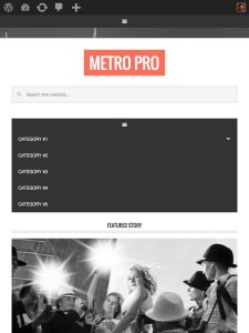 How to add Magazine Pro's mobile responsive menu in Metro Pro