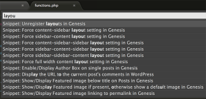 Sublime Text Snippets for Genesis