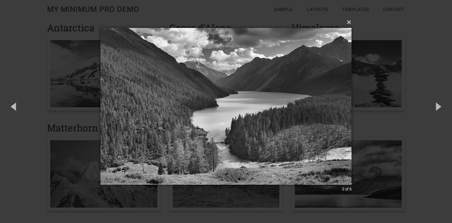 Page template for Featured images Grid using Genesis Custom
