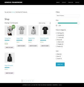 Search, Price Slider, Product Categories and other Filters for WooCommerce in Genesis