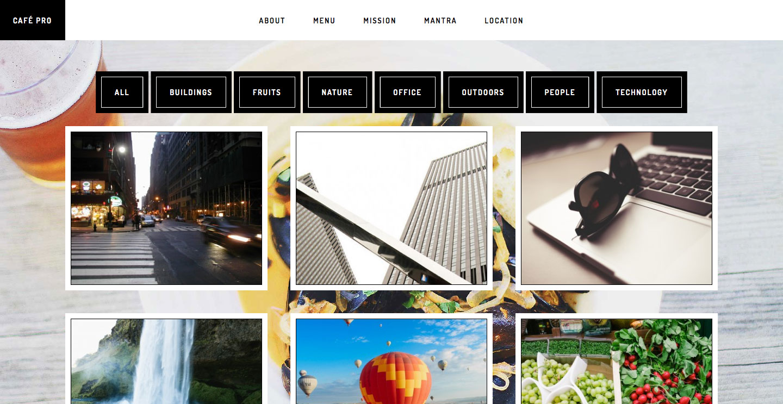 cafe-pro-filterable-portfolio-desktop