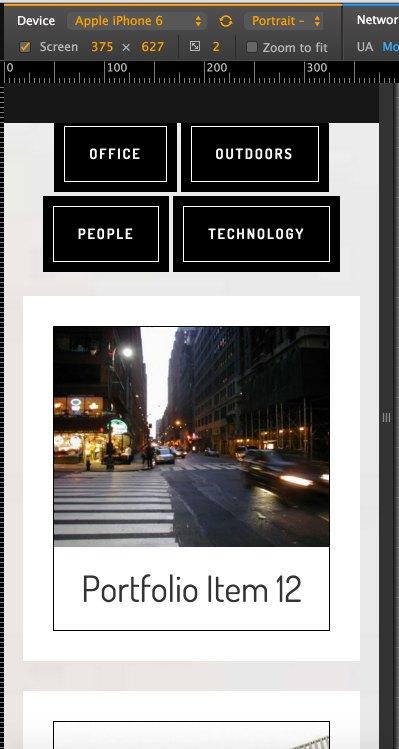 cafe-pro-filterable-portfolio-mobile