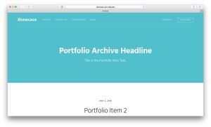 How to display CPT archive headline/intro inside the page header in Showcase Pro