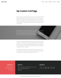 How to set up a custom Page Template for full width content in Digital Pro