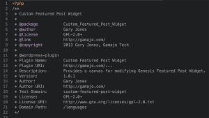 Custom Genesis Featured Posts Widget plugin