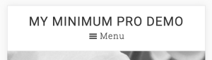"How to add the word ""Menu"" next to the hamburger icon in Minimum Pro"