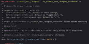 Custom Shortcode for Primary Category Link in Genesis Entry Meta using ACF