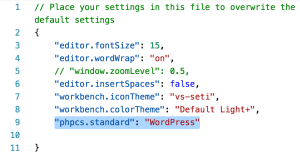 How to set up WordPress Coding Standards in Visual Studio Code