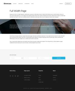 Full Width Page Template in Showcase Pro