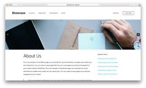 Soliloquy slider below header on Pages in Showcase Pro