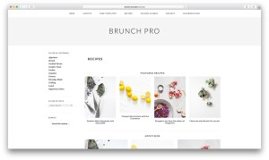 Applying a layout for Recipes page in Brunch Pro