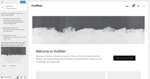 How to add a banner image below the header in Outfitter Pro