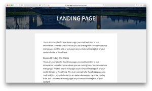 Full width responsive featured image with page title overlay on landing pages in Genesis