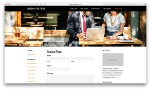 Featured image page header in eleven40 Pro