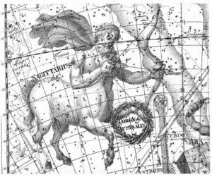 1 Sagittarius - uranographia 1801