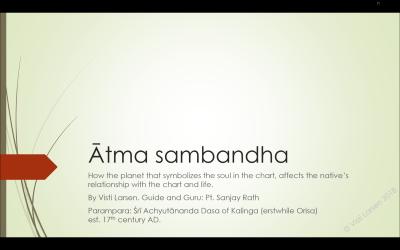 Ātma Sambandha (Leeds 2018 lecture)