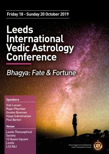 Leeds Theosophical Society Vedic Astrology Conference 2019