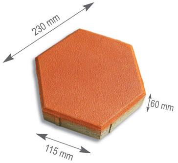 Hexagon Rubber Paver Moulds - rubber mould for paver blocks