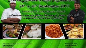 First Sri Lankan Food Festival in Warsaw Hilton Hotel – Poland