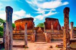 Sacred Quadrangle Vatadage Polonnaruwa Sri Lanka 37