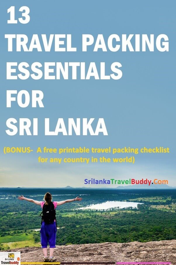 Sri Lanka travel checklist