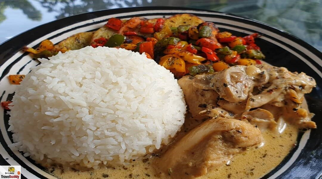 Sri Lanka curry and rice