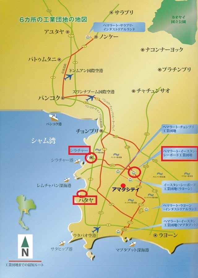 thailand industrial estate map
