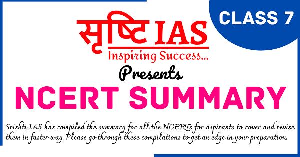ncert summary class 7