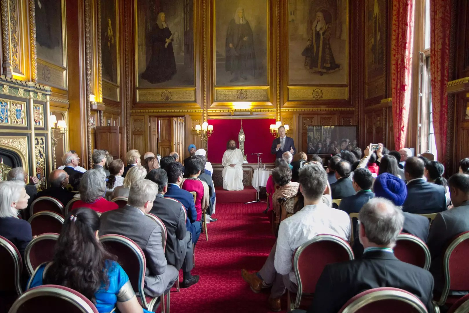 Sri Sri Ravi Shankar addresses Lords, Ladies & MPs in the Speaker's Chambers at the House of Commons