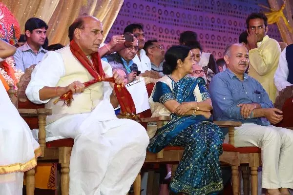 Rajnath Singh and Sushma Swaraj and Manish Sisodia
