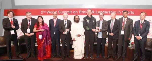 Ethics in Sports Award conferred at the Second World Summit on Ethics & Leadership in Sports