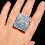raw kyanite silver ring susan ritter