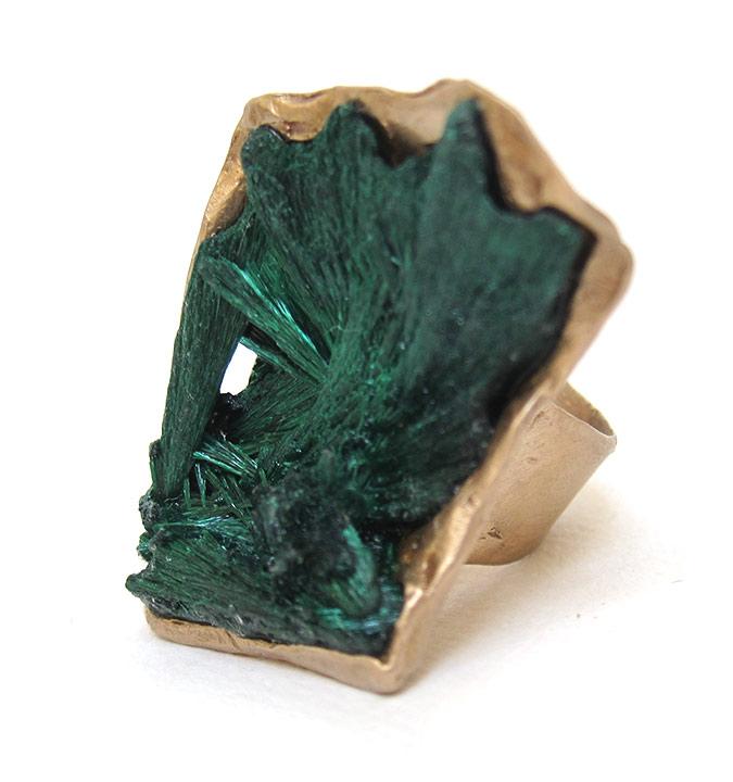 fibrous malachite ring susan ritter