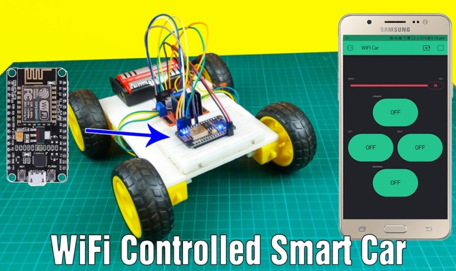 How to make a WIFI controlled car using Nodemcu and Blynk app – Step by step instructions