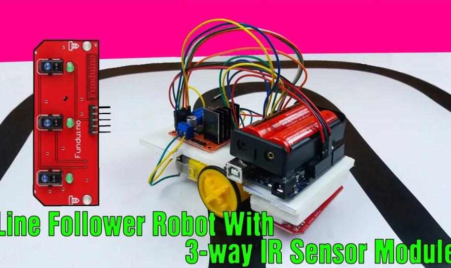 How to make a line follower robot using a 3-way IR infrared sensor module
