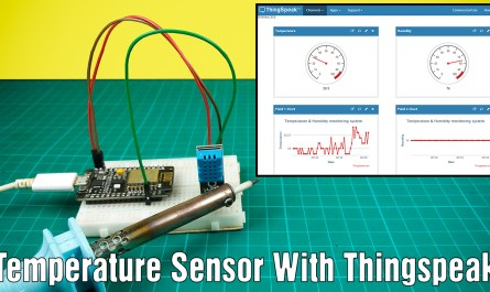 How to make an IoT based temperature and humidity monitoring system using Nodemcu and Thingspeak