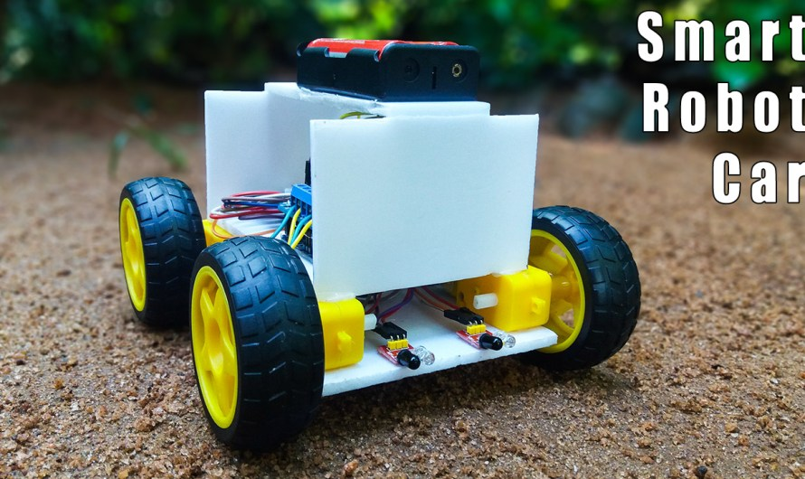How to make an Obstacle avoiding robot using a 4-way line tracking sensor module