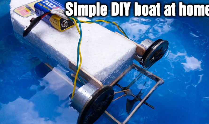 How to make a simple DIY motorboat at home
