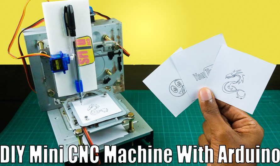 How to make a DIY Arduino CNC drawing machine at home
