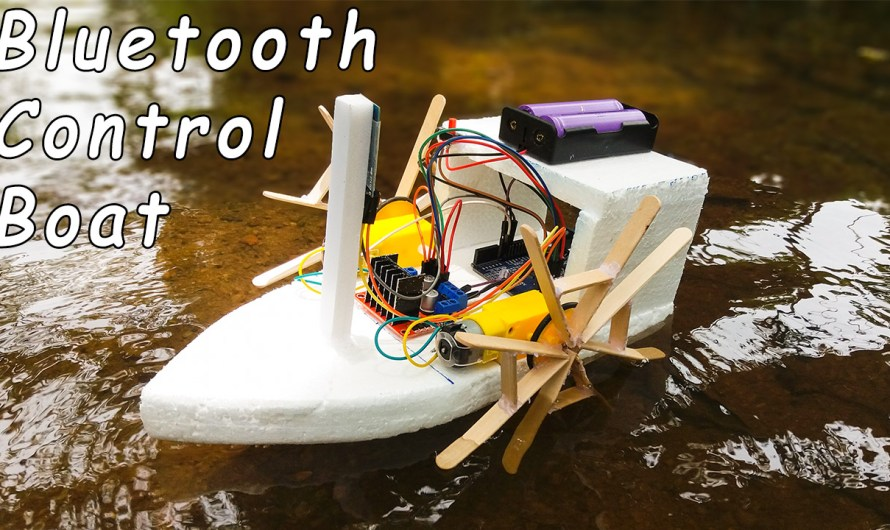 How to make a DIY Bluetooth control boat using Arduino