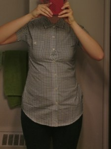 My torso in a button-down shirt that fits way better