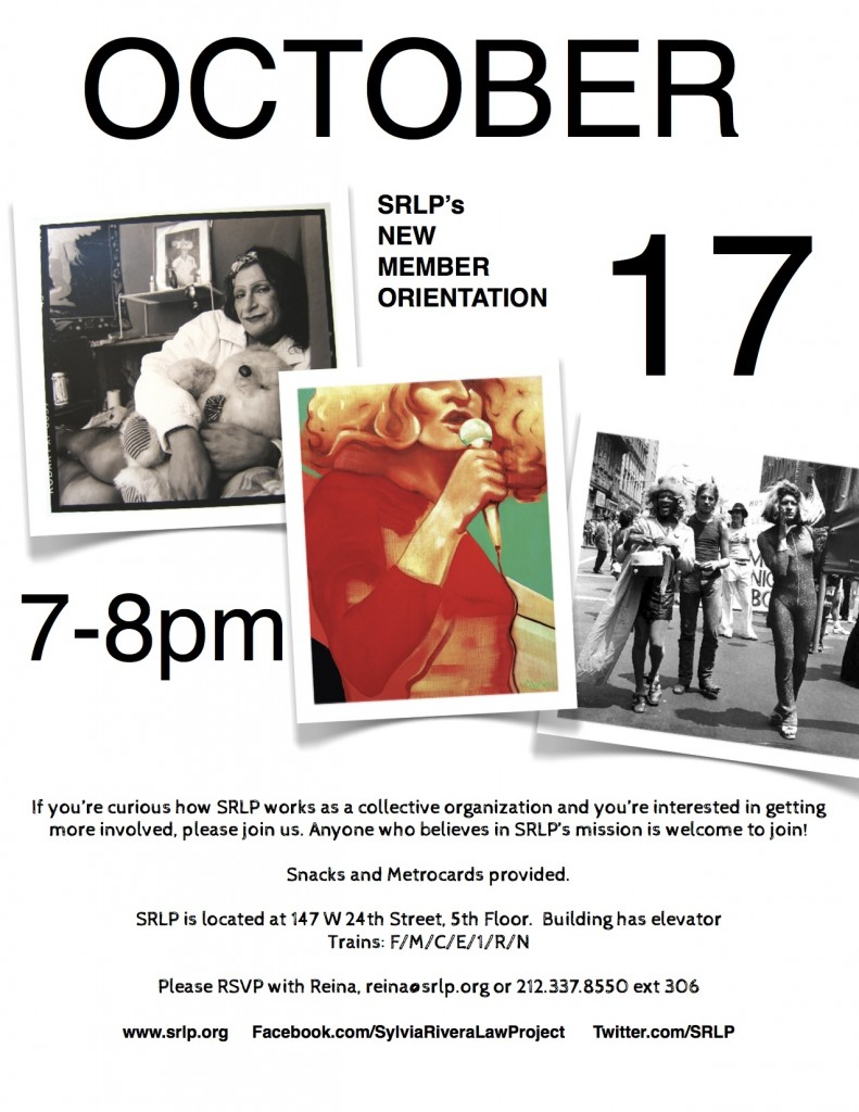 SRLP October 2013 New Memebership flier