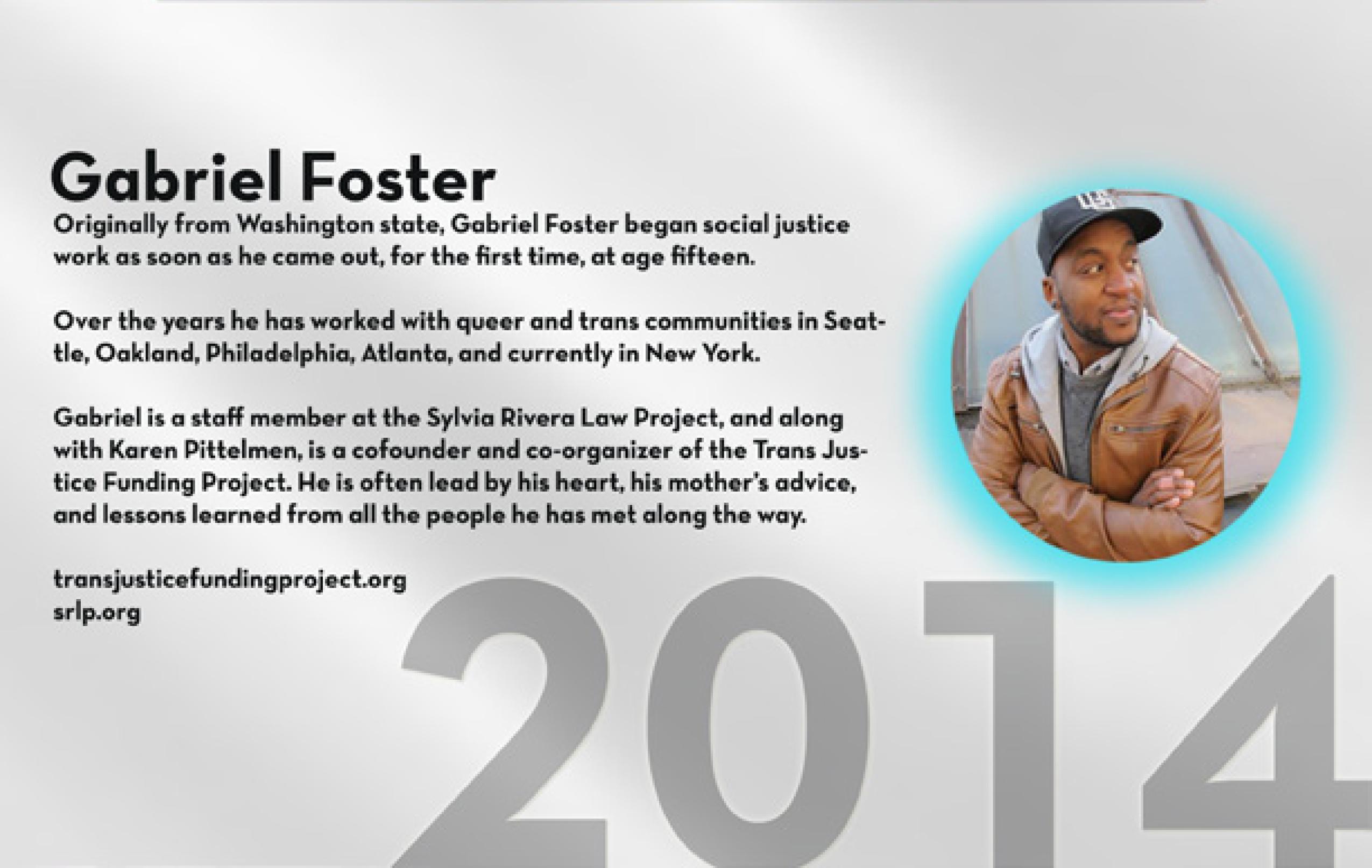 TRANS100 Gabriel Foster
