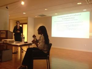 SRLP staff present a training